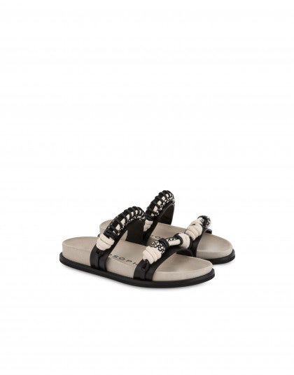 Moon sandal in calfskin