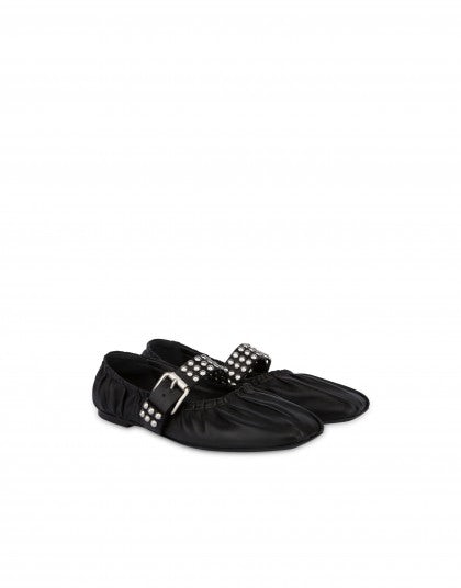 Nappa leather ballet flats